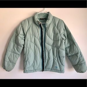 Pale Turquoise Girls Medium Winter Coat